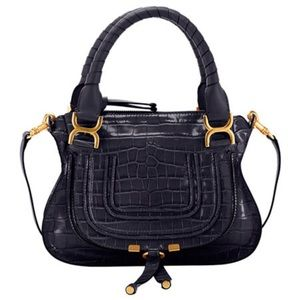 New Chloe Marcy Small - Croc Navy